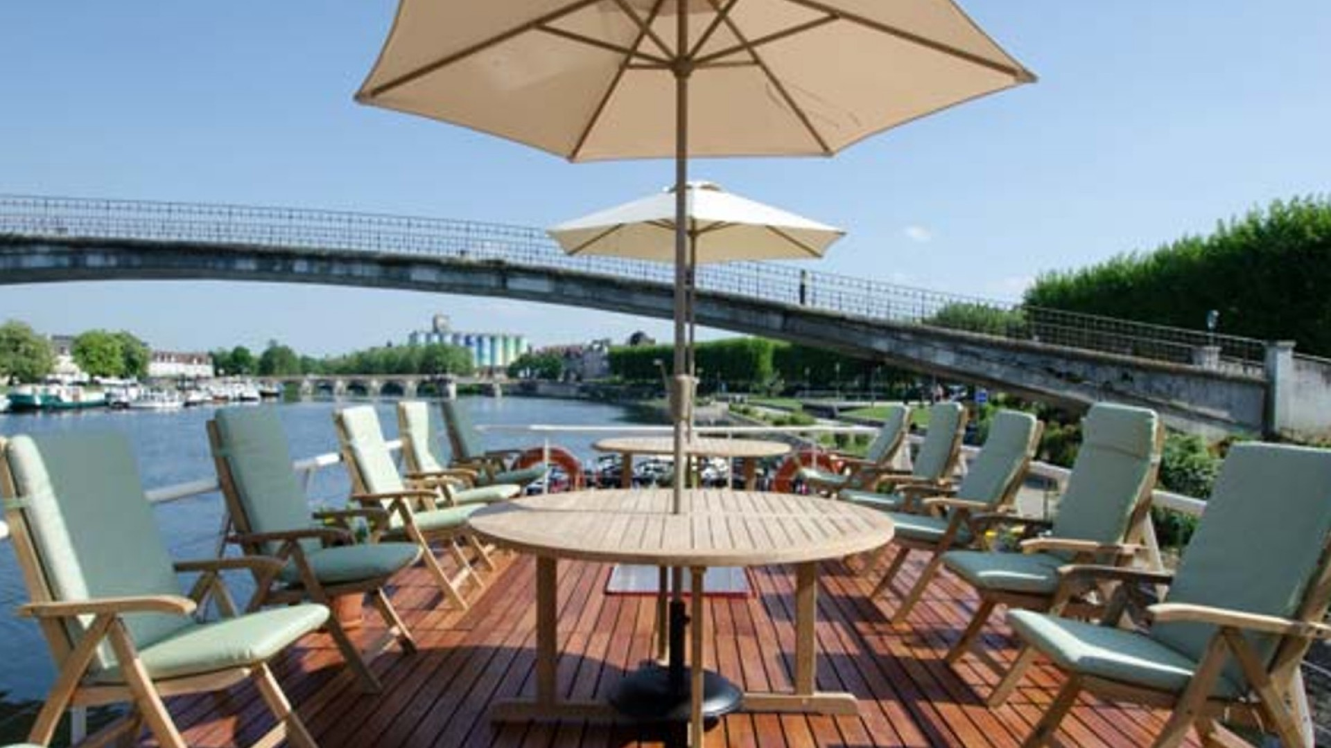 sundeck on french barge