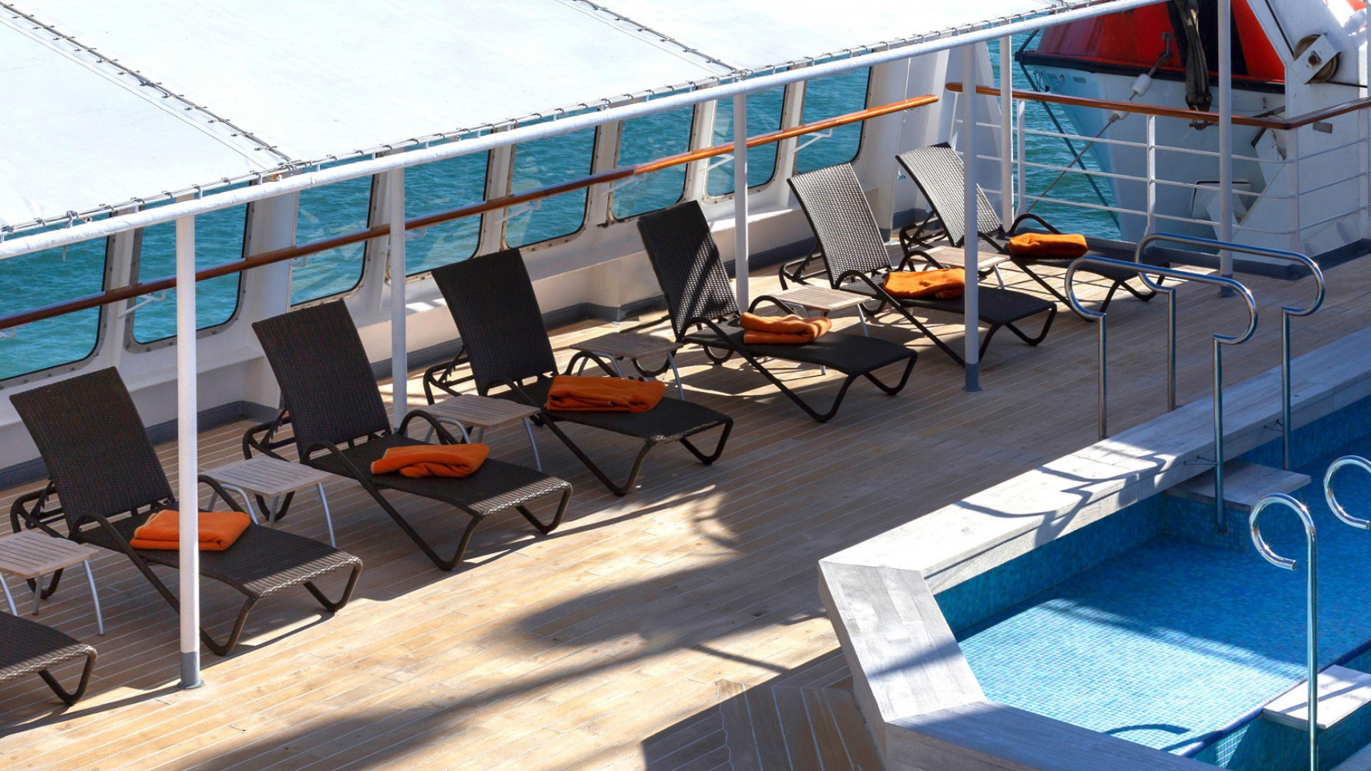 deck on antarctic cruise ship