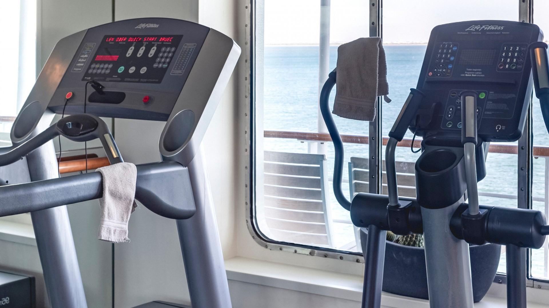 on board gym Polar cruise ship