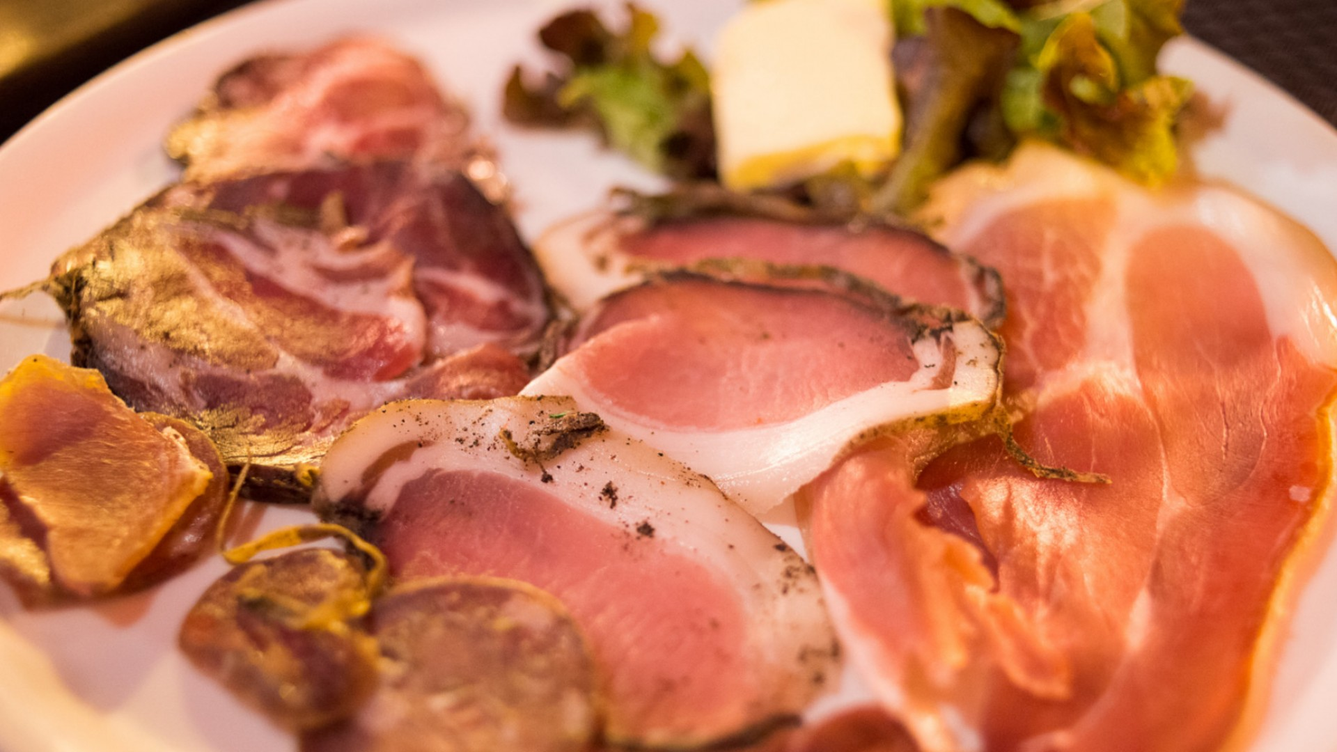 plate of cured meats