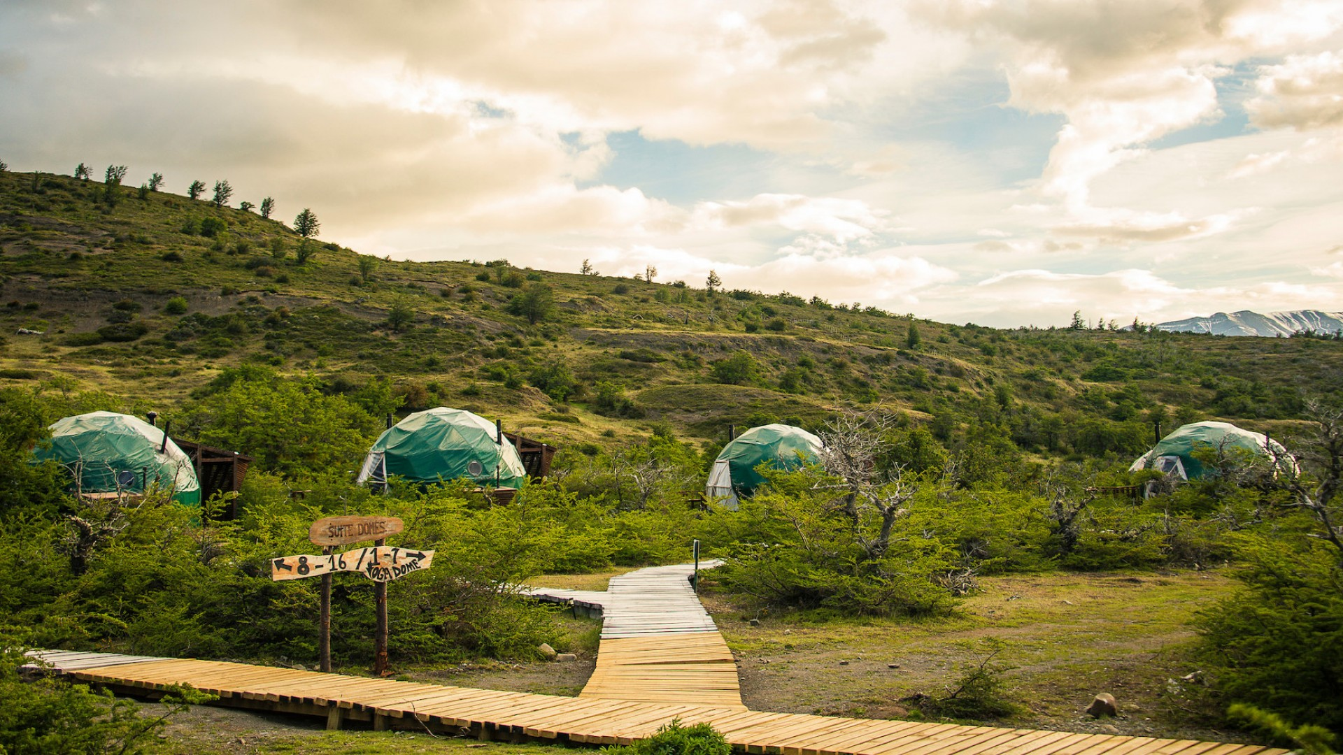 domes at ecocamp in torres del paine national park, patagonia