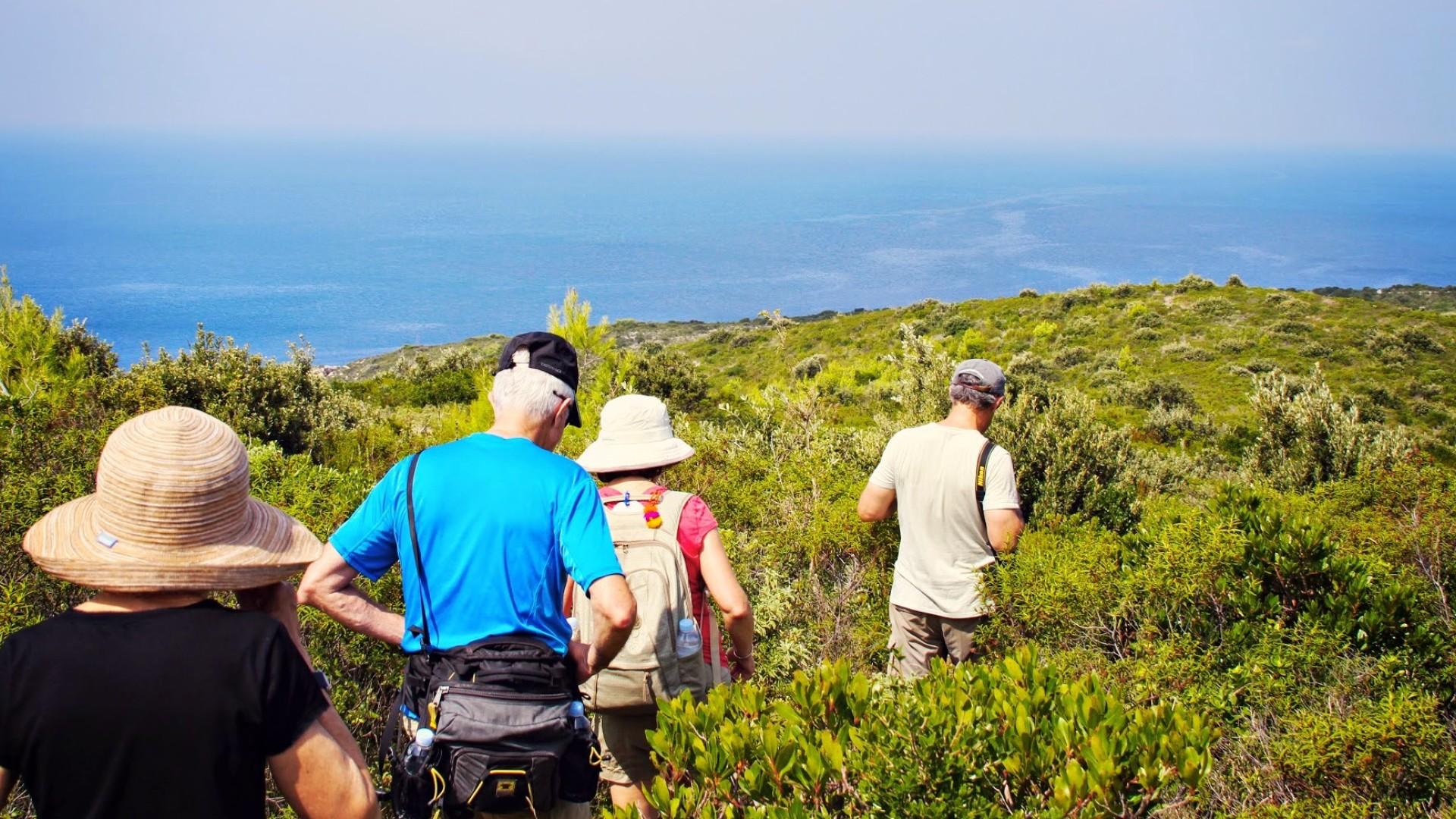 People hiking in croatia