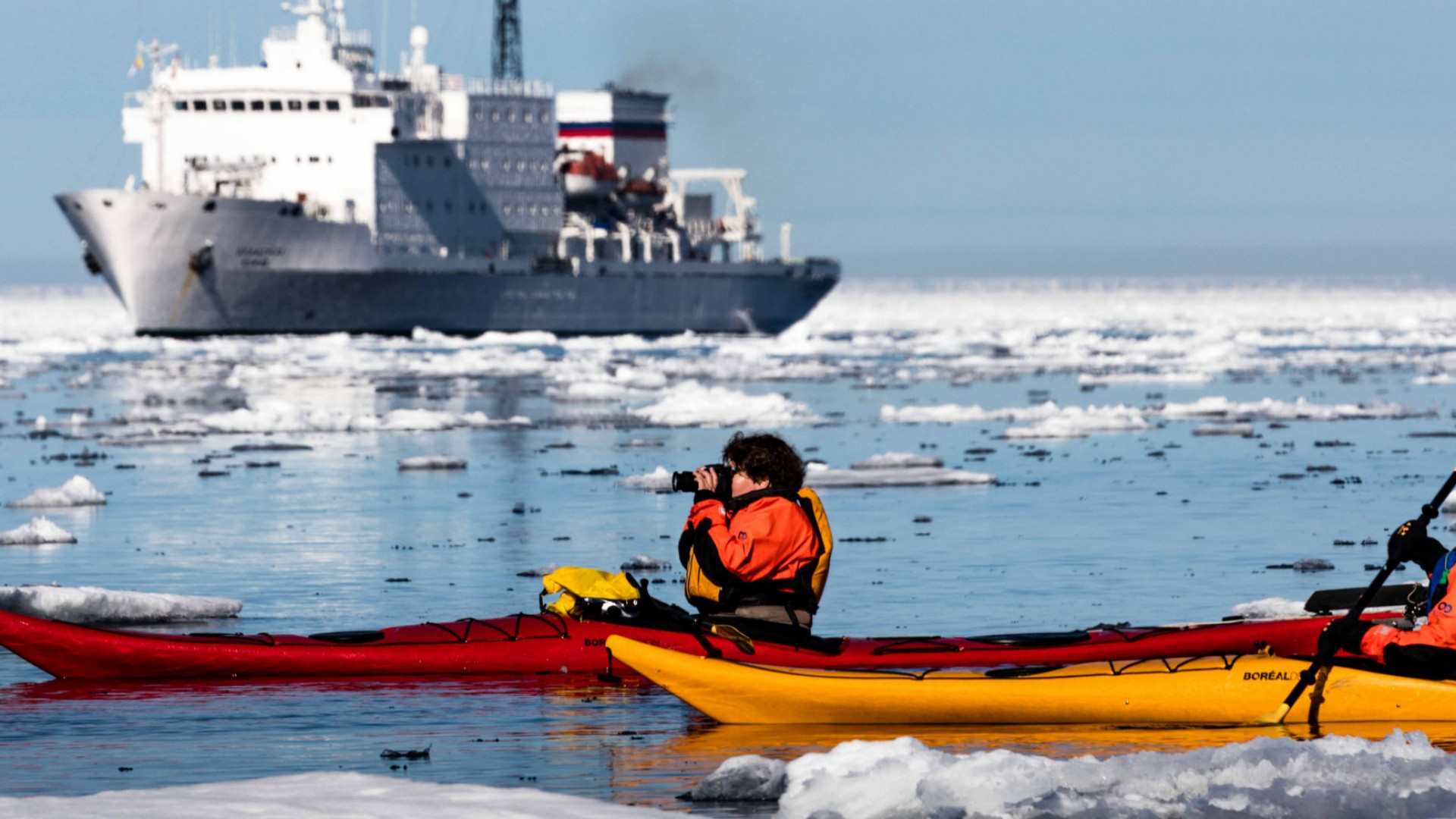 sea kayaking in the arctic