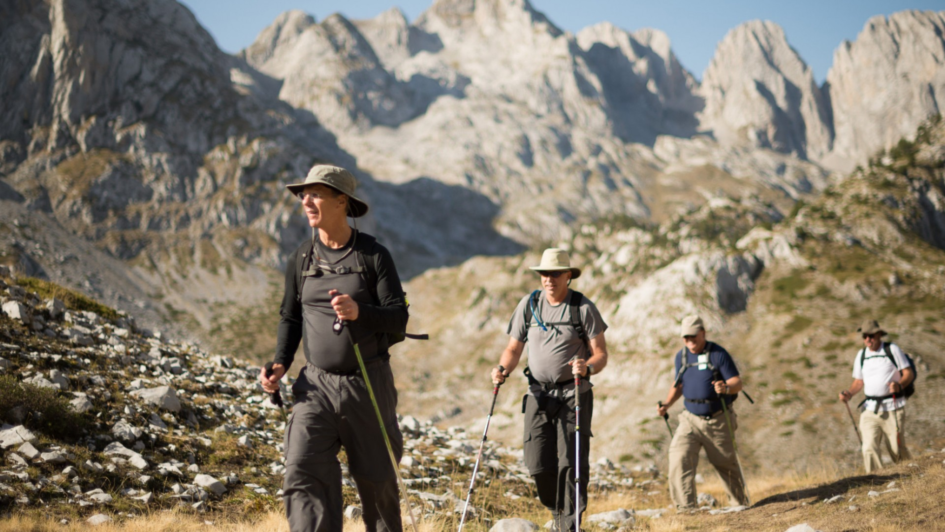 hikers in albania