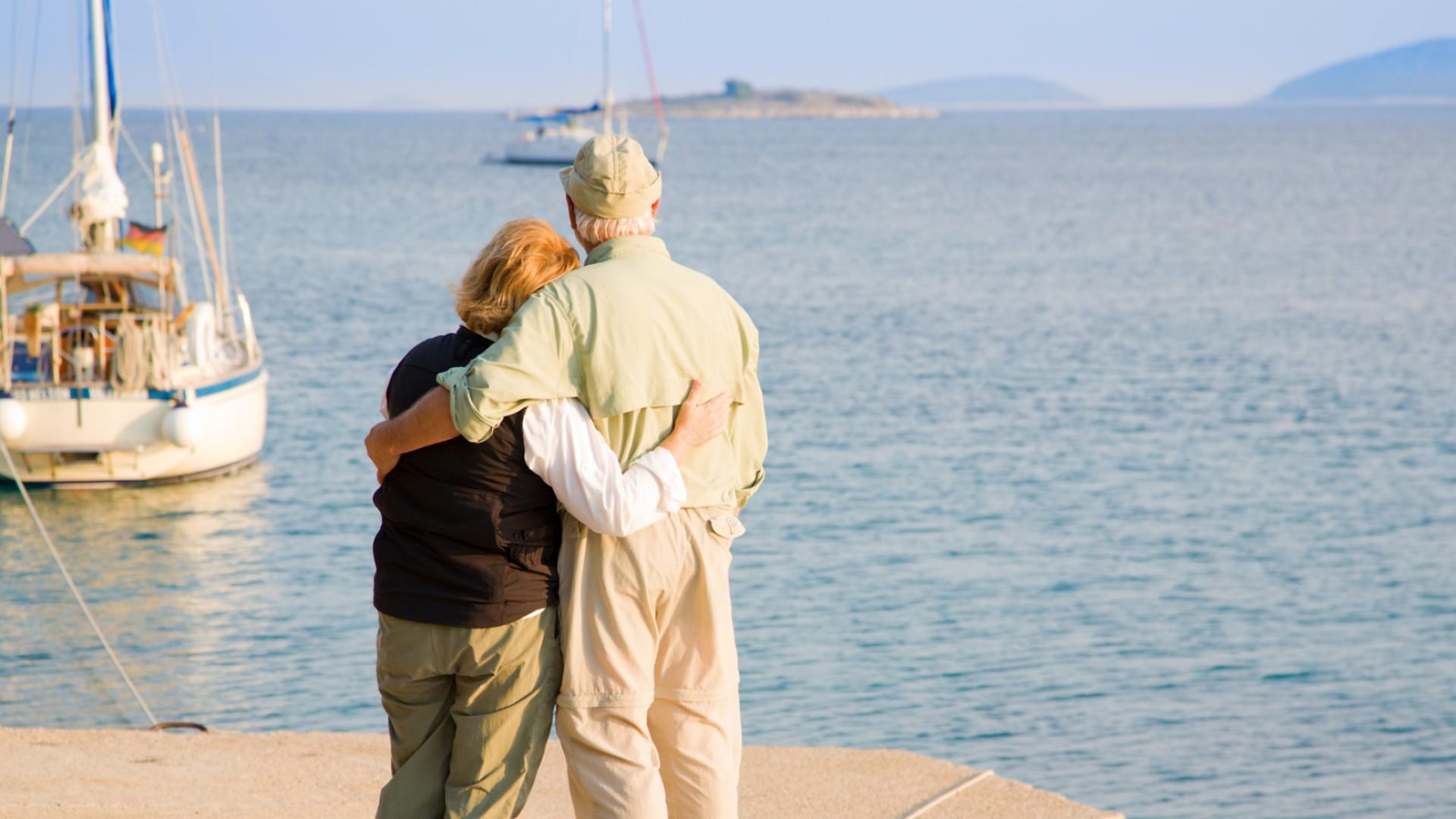 couple on beach in croatia