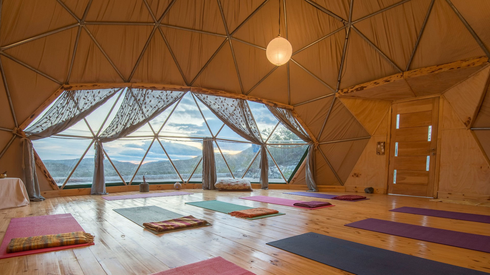 yoga dome in patagonia ecocamp