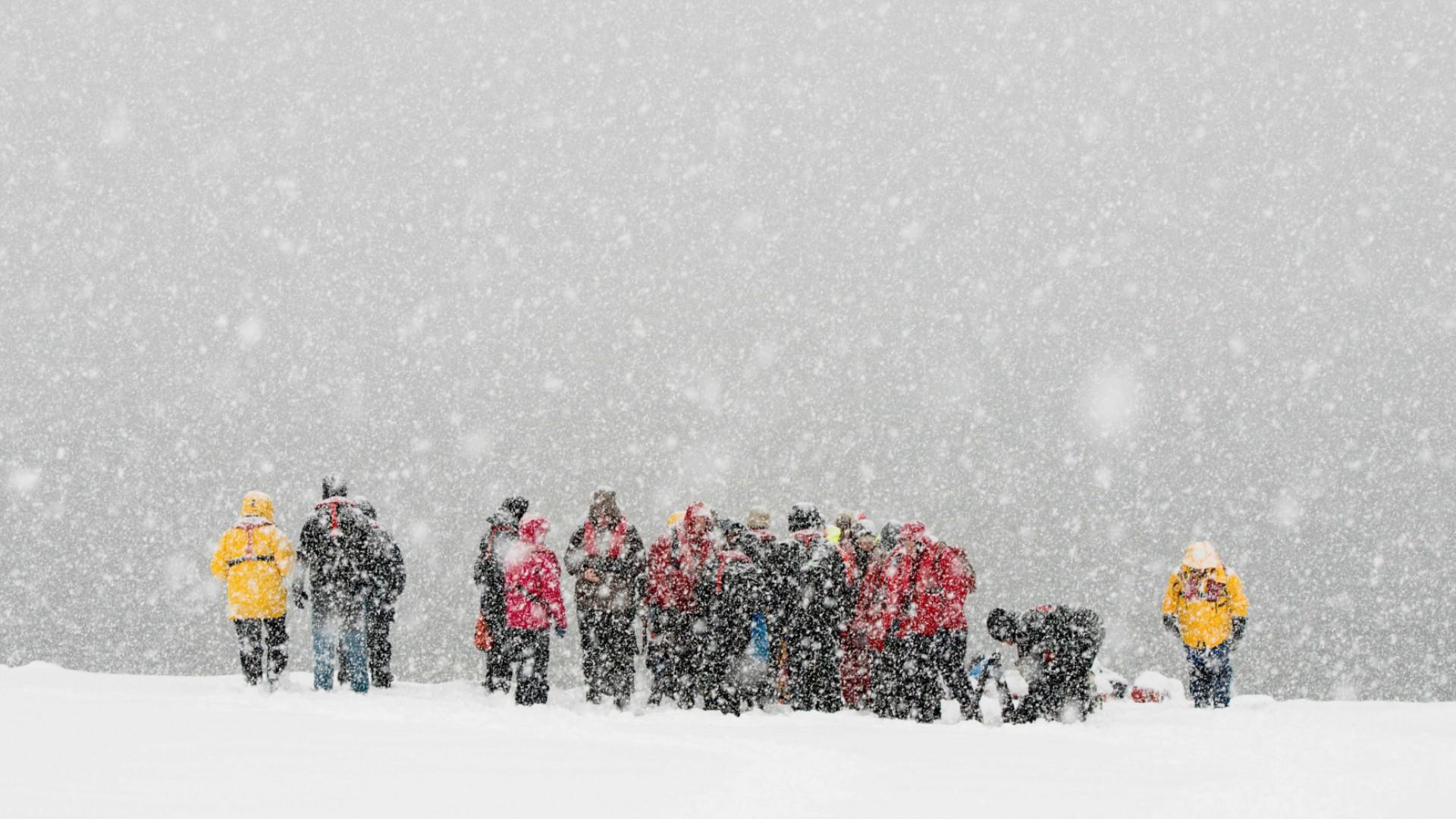 people in antarctica