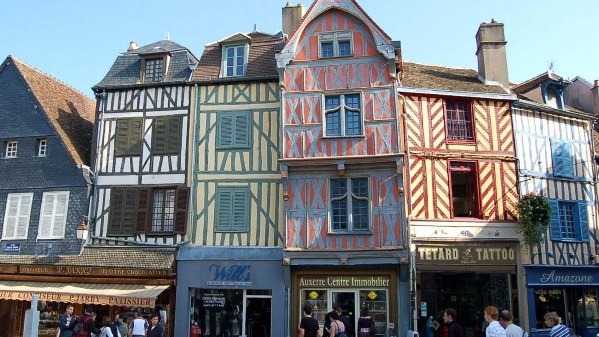 buildings in Auxerre, France