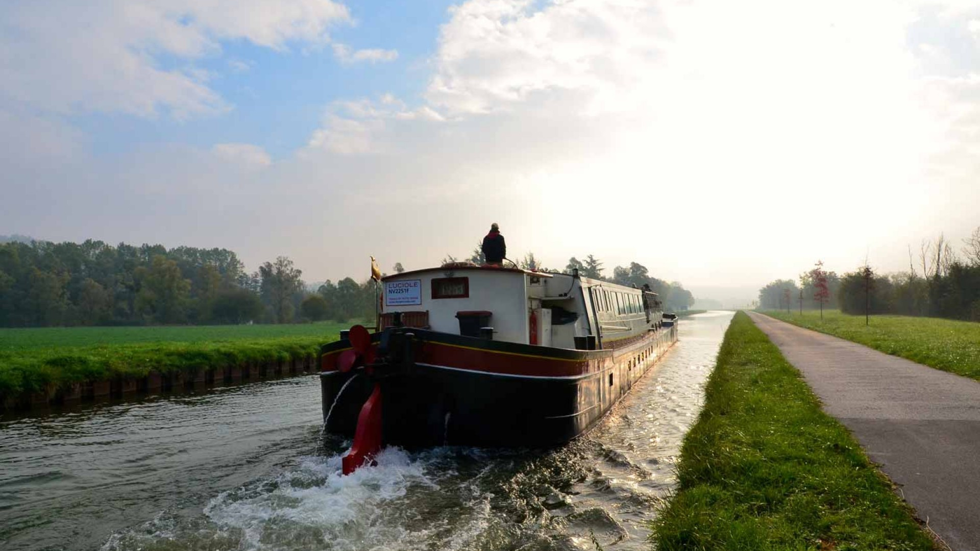 barge in the water in the Nivernais canal