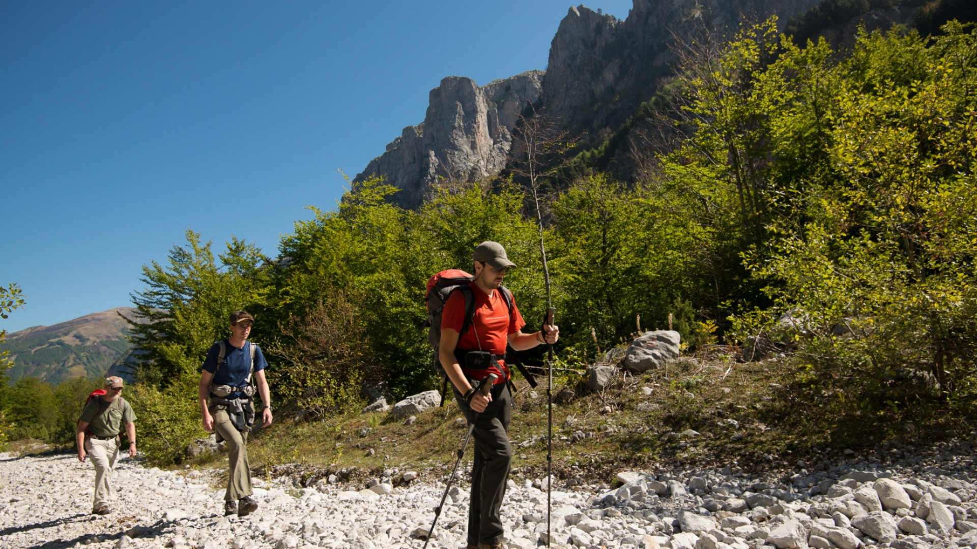 hiking in albania