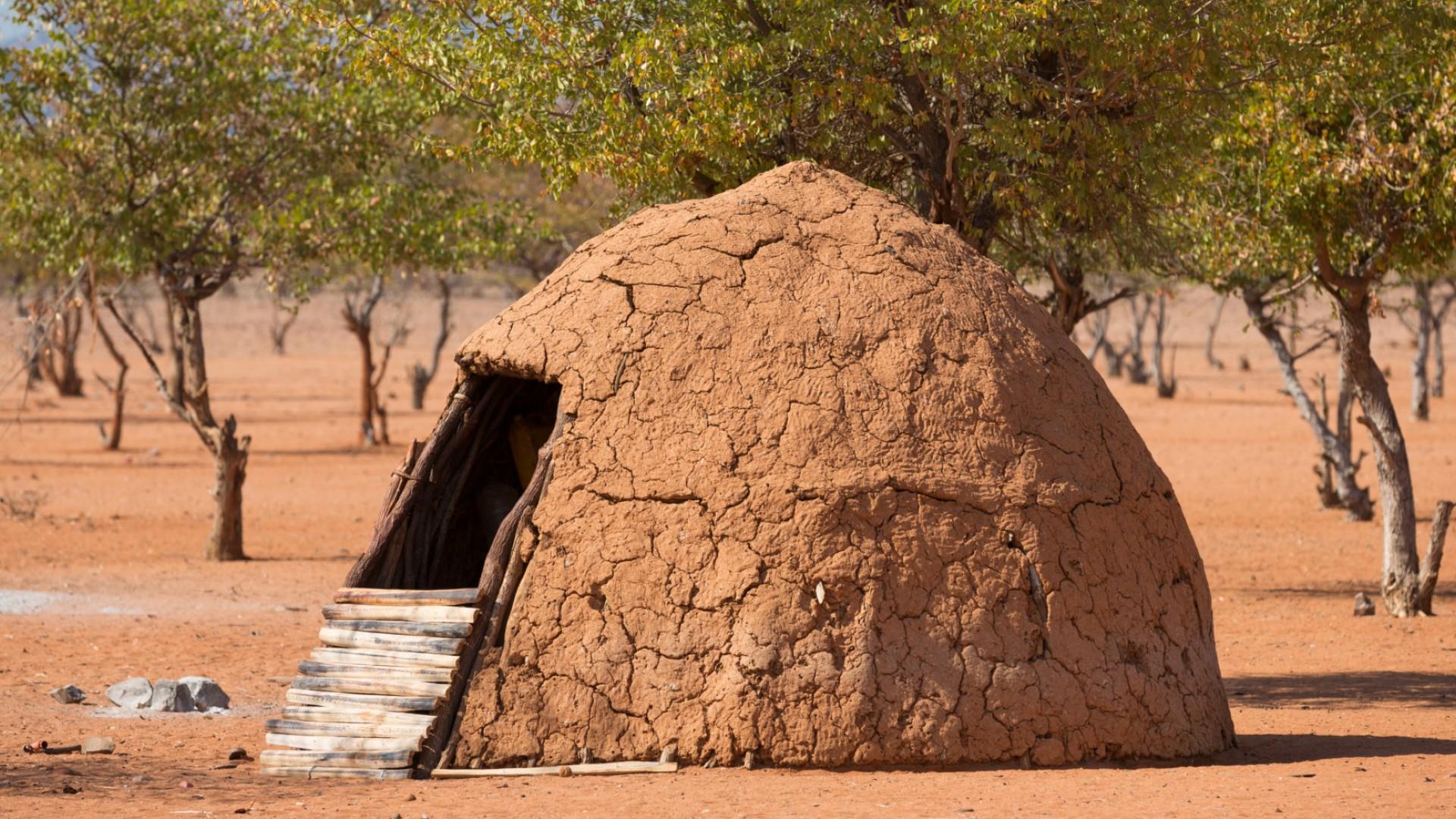 himba hut namibia