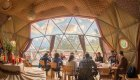geodesic dome in torres del paine national park