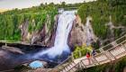people viewing Montmorency Falls