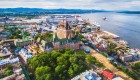 aerial view of old quebec, quebec city