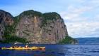 sea kayak in Saguenay fjord