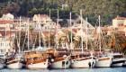 yachts anchored in croatia