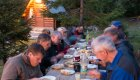 group enjoying outdoor dinner in albania
