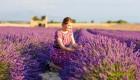 women in field of lavendar