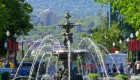 fountain in Quebec City, Quebec