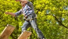 man on ropes course in France