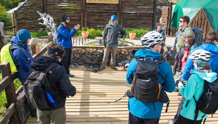 Adventure group in patagonia